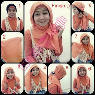 tutorial hijab kerudung paris ala dian pelangi judul tutorial hijab paris dian pelangi dan segi empat