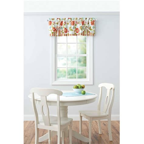 better homes and gardens l shades better homes gardens jacobean stripe kitchen curtains 2