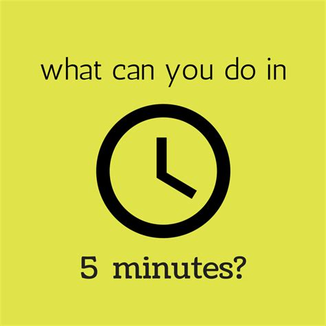 What Can You Do what can you do in 5 minutes splendry