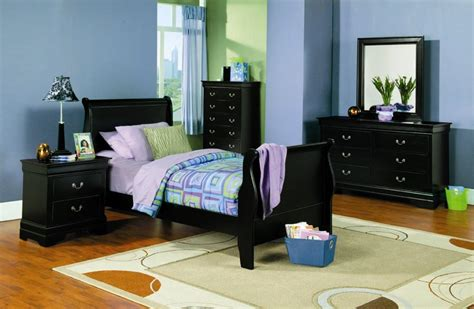 Youth Bedrooms | saint laurent youth bedroom set black kids room sets