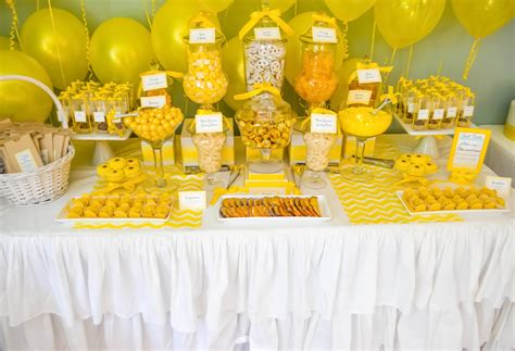 Candy Buffet Ideas For Bridal Shower yellow candy buffets cw distinctive designs