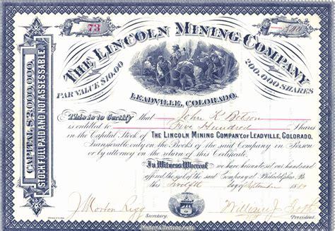 Henry Altemus Co   Stock Certificates