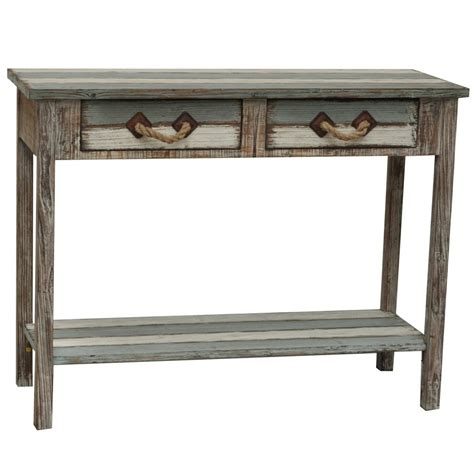 weathered wood console table nantucket 2 drawer weathered wood console table sofa