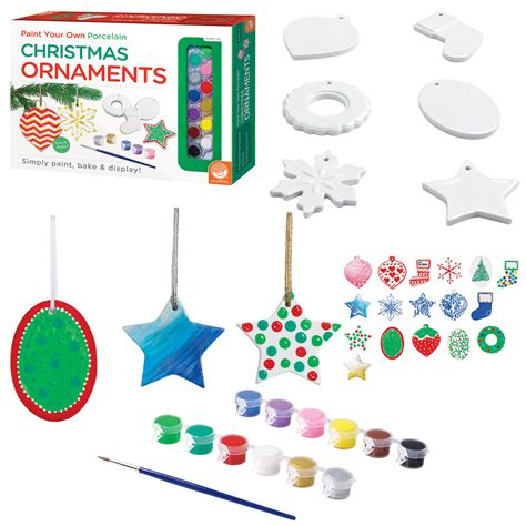 paint your own porcelain christmas ornaments kit the