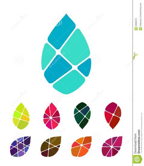 pattern logos design vector drop water or leaf logo element stock photos