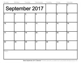 september 2017 calendar weekly calendar template