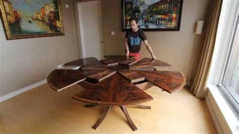 expanding dining table expanding circular dining table in walnut