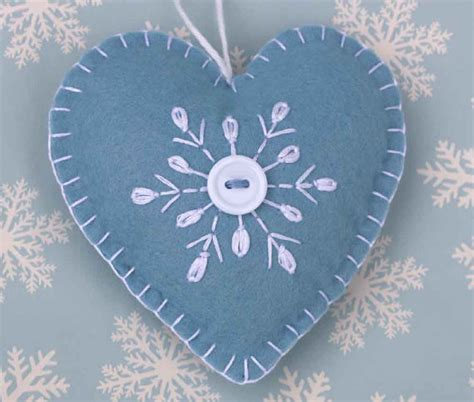 felt christmas ornament handmade scandinavian heart ornament