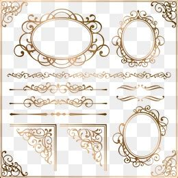 european style gold frame pattern vector gold frame png images vectors and psd files free