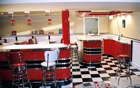 Retro Dining Room Sets kieths retro room basement home diner bar diner