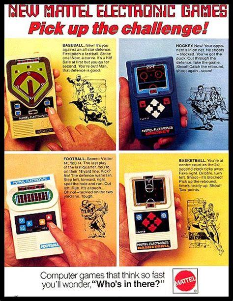 mattel handheld games