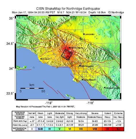 northridge california map possible developments for next the big one socal on san