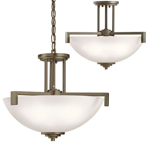 Kichler 3797ozs Eileen Contemporary Olde Bronze Drop Lighting Fixtures