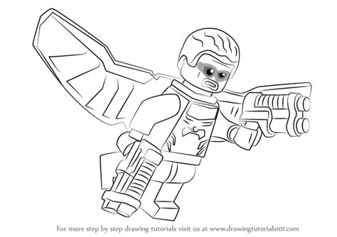 learn how to draw lego falcon lego step by step