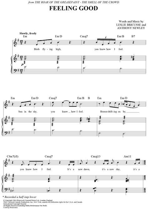 good sheets nina simone feeling good sheet music onlinesheetmusic com