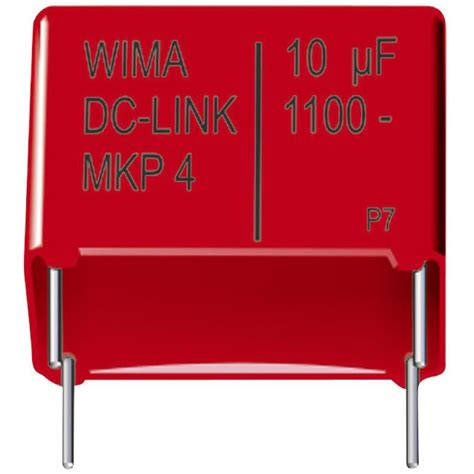 dc link capacitor wima wima dc link 10 181 f mkp polyester capacitor v from conrad
