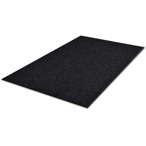 Plastic Doormat - vidaxl co uk black pvc door mat 120 x 180 cm