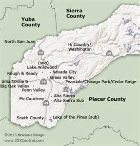 nevada county california map search by map real estate in nevada county