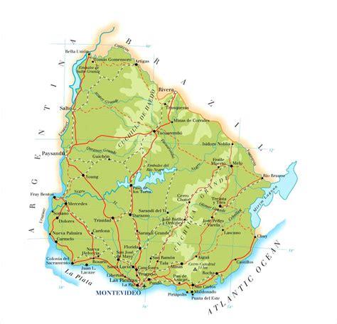 uruguay on a map uruguay map mappery