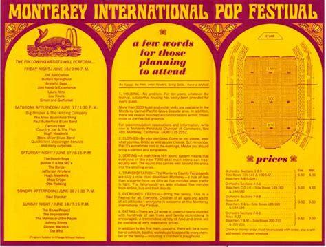 jimi hendrix   janis joplin monterey pop festival ticket order formhandbill