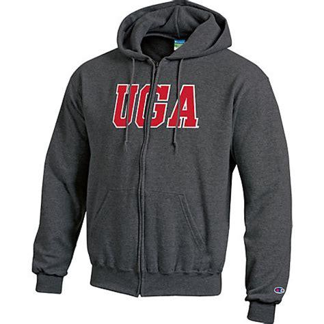 university of georgia full zip hooded sweatshirt