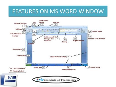 page layout features microsoft word introduction to microsoft word 2007