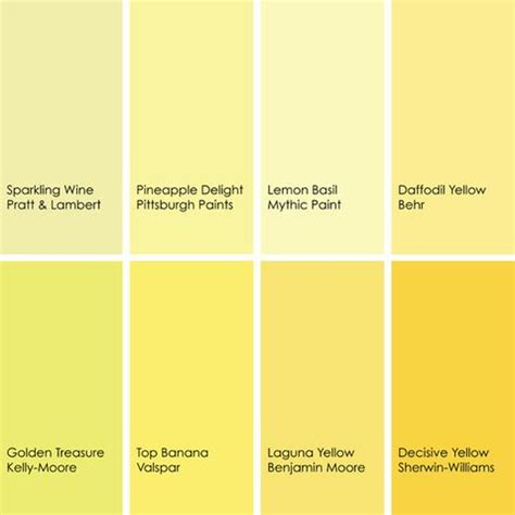 various shades of yellow shades of yellow paint colors 2 pinterest