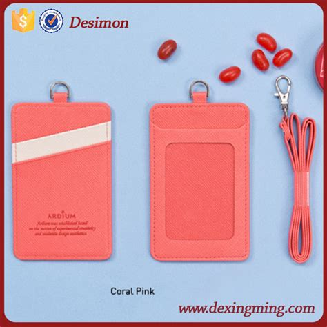id card rope design polyester badge holder with neck rope neck wallet badge