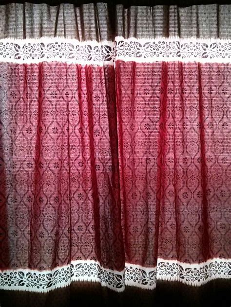 tie dye window curtains chocolate and maroon tie dyed and hand block by
