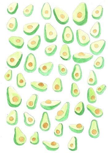 cute avocado pattern backgrounds and pretty pictures via tumblr on we heart it
