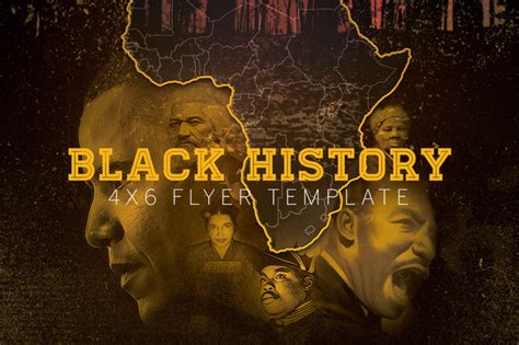 Black History Templates black history flyer template flyer templates on creative market