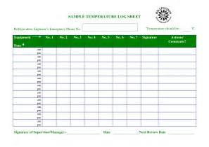 room temperature log sheet template temperature chart template temperature log sheet