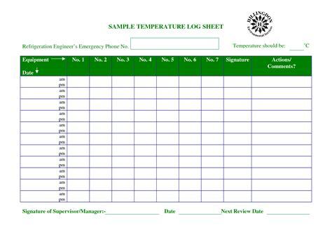 Temperature Chart Template Temperature Log Sheet Recipes To Cook Pinterest Temperature Water Temperature Log Template
