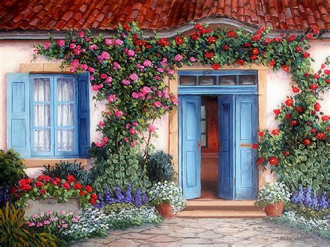 wallpaper cute house cute house with flowers full hd wallpaper and background