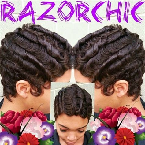 fingerwaves freeze updo for an black american female finger waves by razorchicofatlanta so talented black