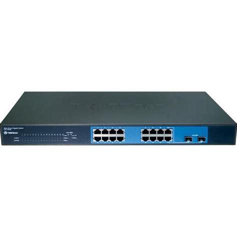 Trendnet 16 Port Gigabit Web Smart Switch Teg 160ws trendnet 16 port gigabit web smart switch with 2 teg 160ws b h
