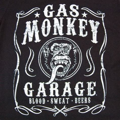 Gas Monkey Garage Blood Sweat And Beers mens gas monkey garage blood sweat beers t shirt black buy menswear from honcho sfx uk store