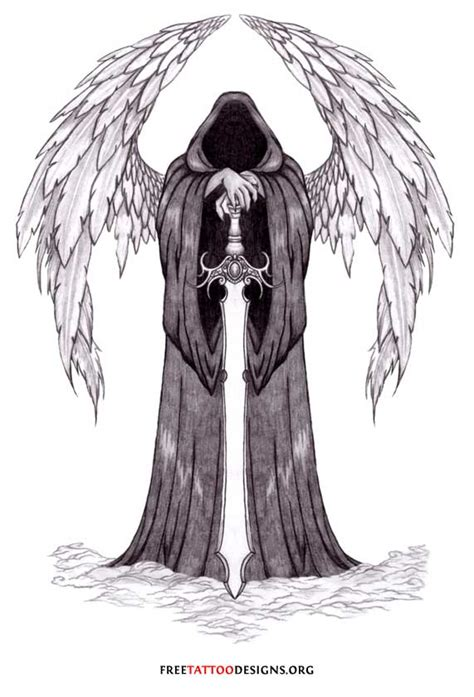 gothic angel tattoo designs tattoos wings guardian and st michael