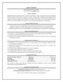 Travel Officer Sle Resume by Travel Resume Sle Template