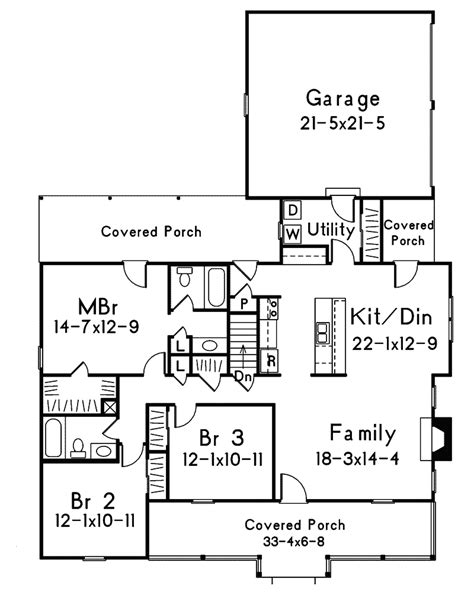 Country Style Floor Plan | mayland country style home plan 001d 0031 house plans