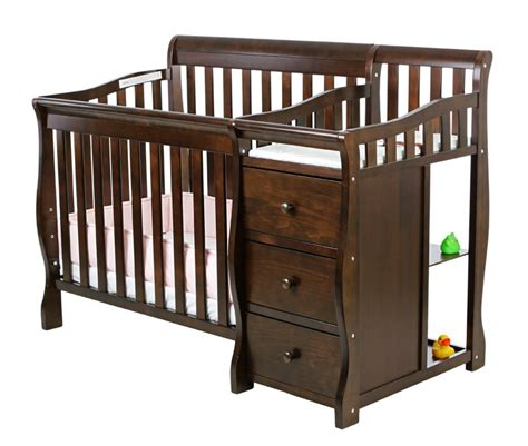Delta Sleigh 3 In 1 Crib by Glenwood 3 In 1 Espresso Convertible Sleigh Crib