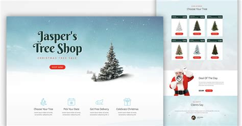 christmas website templates
