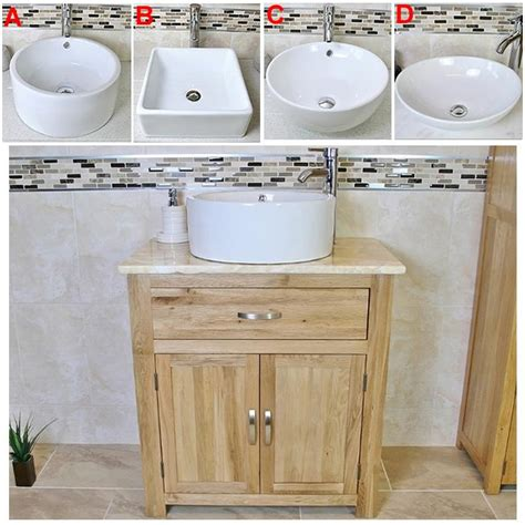 Bathroom Vanity Unit Worktops Solid Oak Bathroom Vanity Unit Oak Sink Bathroom Cabinet Worktop Inc Ebay