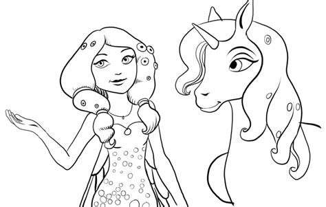 free coloring pages of mia and me onchao
