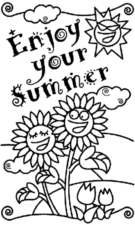 crayola coloring pages adults enjoy your summer coloring page crayola com