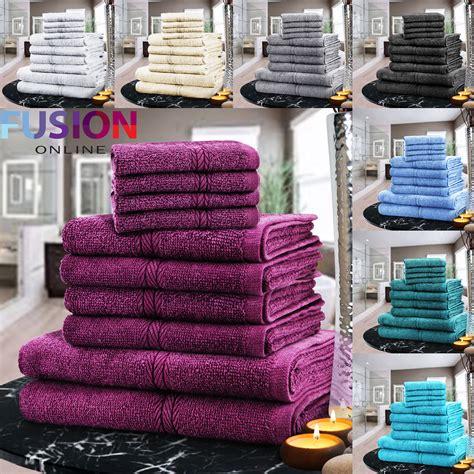luxury towel bale set 100 egyptian cotton 10pc face hand