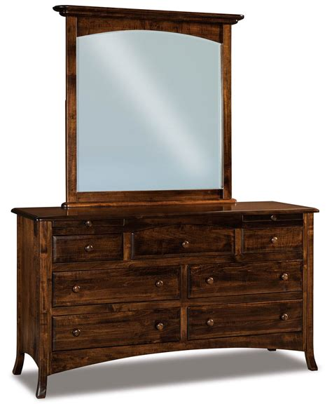 Dressers With Jewelry Drawers by Carlisle 7 Drawer Dresser With Arched Drawers And 2