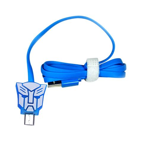 Cable Micro Karakter kabel data micro usb led karakter transformer