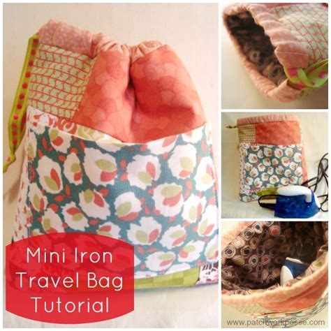 Mini Iron For Patchwork - mini iron bag tutorial using fabric scraps