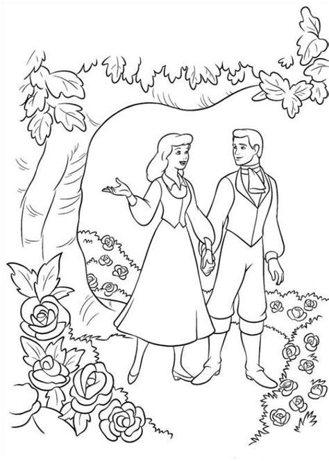 imagenes del otoño para colorear kleurplaten en zo 187 kleurplaat van assepoester en de prins